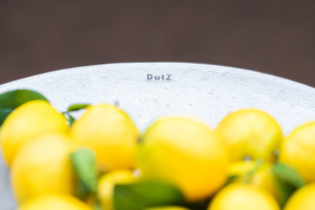 Glas platte weiss mit Zitronen