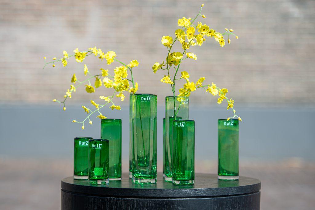 Zylinder in 4 verschiedene grössen in die Farbe blattgrün