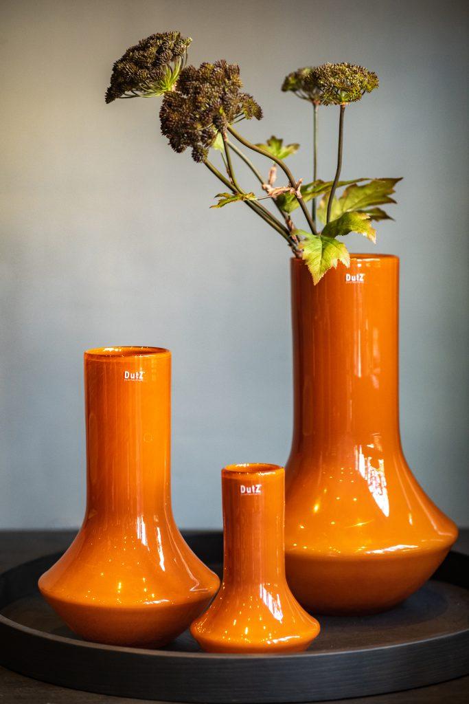 Marco vasen drei verschiedene grossen in Rostbrown